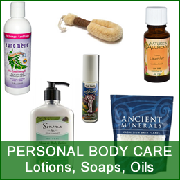 Personal Body Care - Shampoo, Lotions, Oils, Soaps