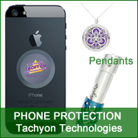Tachyon Technologies - Cell Phone protection disk, pendants