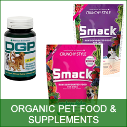Organic Pet Food, cats, dogs - supplements