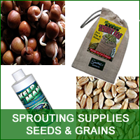 Seeds, Grains, Sprouting Supplies