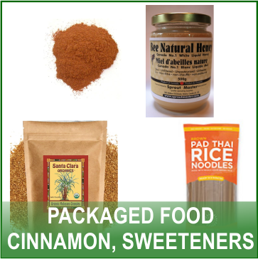 Packaged Food - Cinnamon, Sweeteners