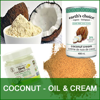 Coconut - Cream, Oil