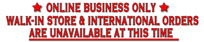 Online business only - No store front, Orders shipped within Canada only
