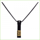 Vertical Pendant -Black-Gold