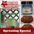 Sprouting Special - Book, Starter Seed, Sprouting Jar