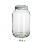 Wide Mouth Glass Jars - 3.7 L