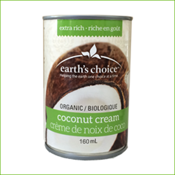 Earths Choice Coconut Cream 160ml - Click Image to Close
