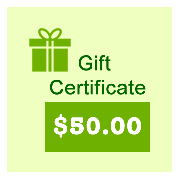 $50 Gift Certificate - Click Image to Close