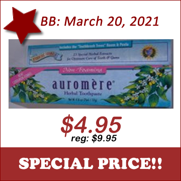 Auromere Toothpaste -Non-foaming Mint - Click Image to Close