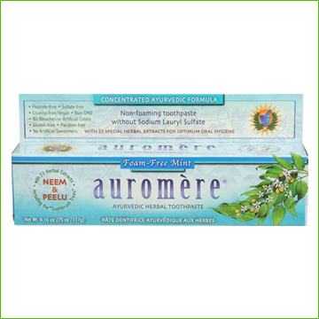Auromere Toothpaste -Non-foaming Free Mint - Click Image to Close
